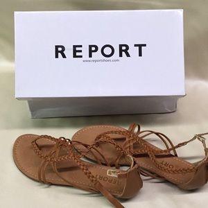Report Lois Tan Sandals Size 9